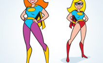 Vector Super Woman. Easy to edit and change colors.